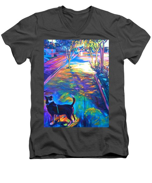 Scout At Twilight Men's V-Neck T-Shirt