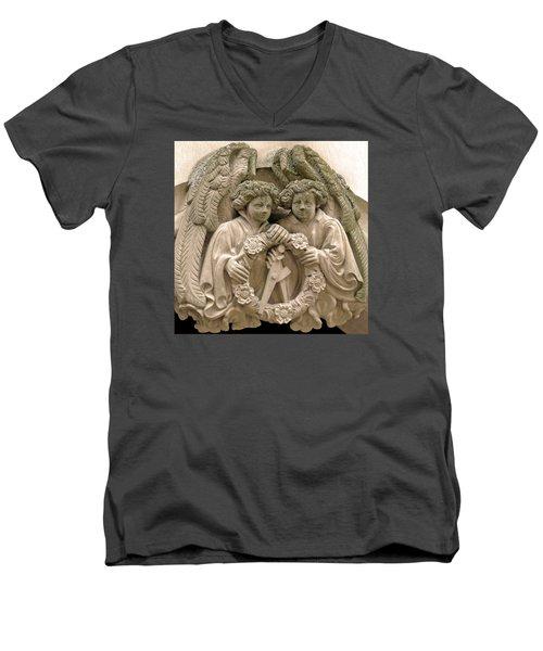 Twin Angels Men's V-Neck T-Shirt