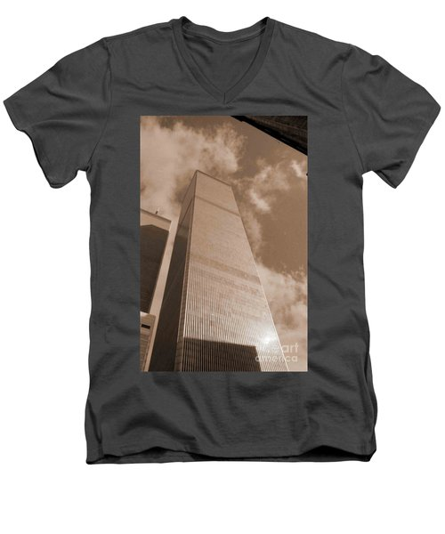 Twin Tower Men's V-Neck T-Shirt
