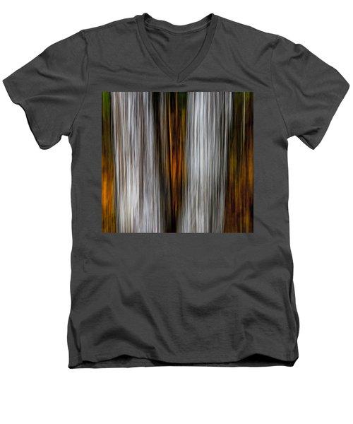 Twin Trunks Men's V-Neck T-Shirt by Darryl Dalton