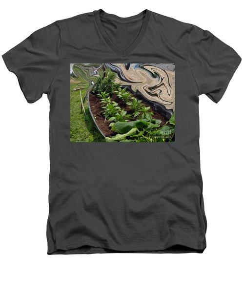 Twisted Garden Men's V-Neck T-Shirt