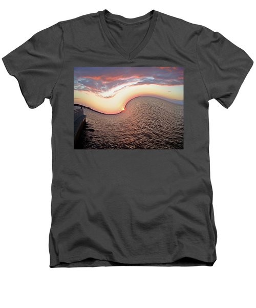 Men's V-Neck T-Shirt featuring the photograph Twisted Sunset by Aimee L Maher Photography and Art Visit ALMGallerydotcom