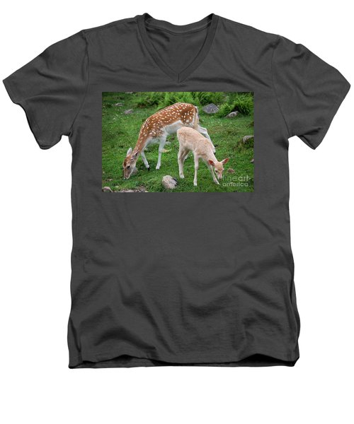 Two Babes Men's V-Neck T-Shirt by Bianca Nadeau