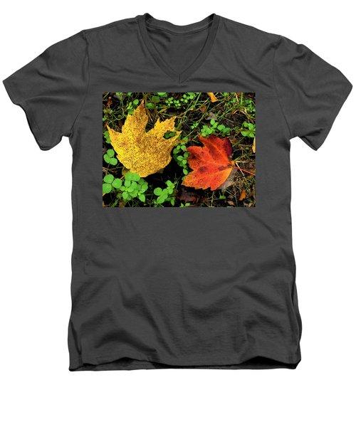 Two Leaves Men's V-Neck T-Shirt
