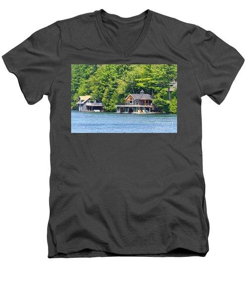 Two Luxury Boathouses Men's V-Neck T-Shirt