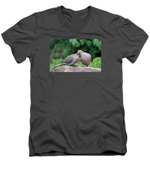 Two Turtle Doves Men's V-Neck T-Shirt by Cynthia Guinn