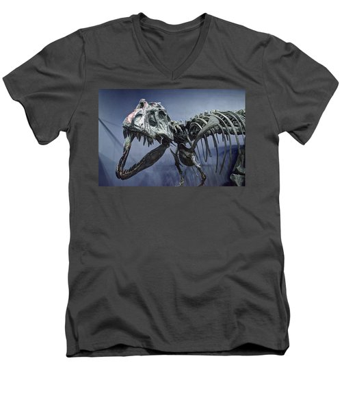 Tyrannosaurus Jane Men's V-Neck T-Shirt