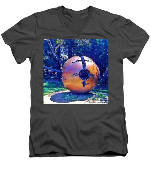 Uc Berkeley Orb For The Men's V-Neck T-Shirt by Anna Porter