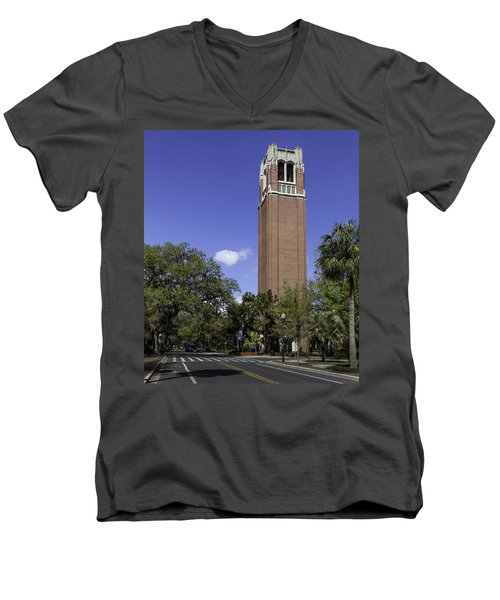 Uf Century Tower And Newell Drive Men's V-Neck T-Shirt