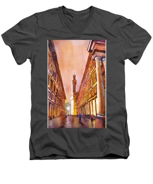 Uffizi- Florence Men's V-Neck T-Shirt