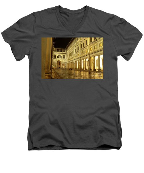 Uffizi Gallery Florence Italy Men's V-Neck T-Shirt by Ryan Fox