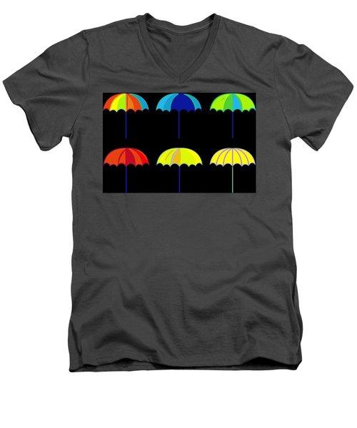 Umbrella Ella Ella Ella Men's V-Neck T-Shirt by Florian Rodarte