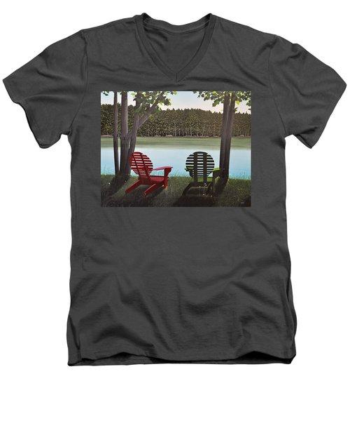 Under Muskoka Trees Men's V-Neck T-Shirt