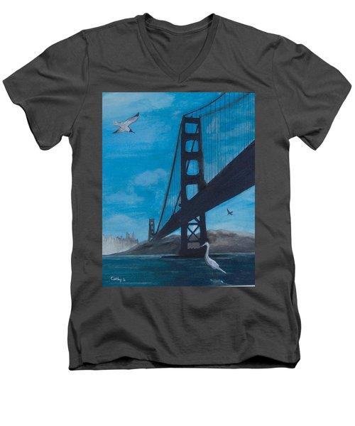 Under The Golden Gate Bridge Men's V-Neck T-Shirt