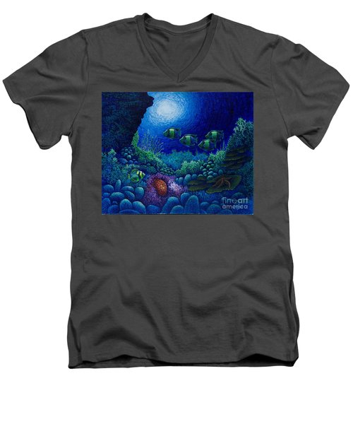 Undersea Creatures Iv Men's V-Neck T-Shirt