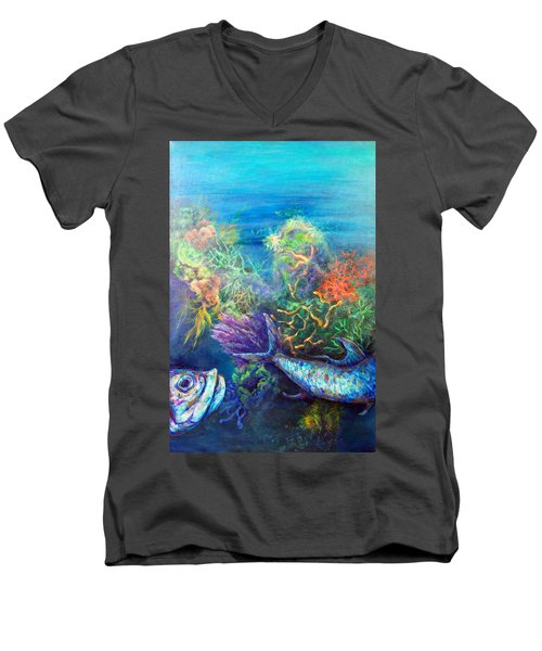 Jesus Reef  Men's V-Neck T-Shirt