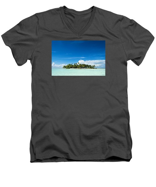 Uninhabited Island In The Pacific Men's V-Neck T-Shirt by IPics Photography