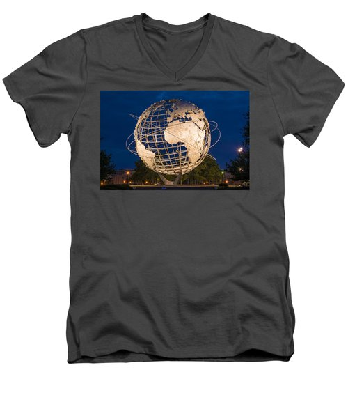 Unisphere Nights Men's V-Neck T-Shirt