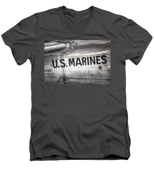United States Marines - Beech C-45h Expeditor Men's V-Neck T-Shirt