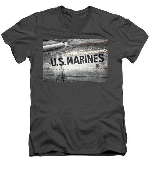 United States Marines - Beech C-45h Expeditor Men's V-Neck T-Shirt