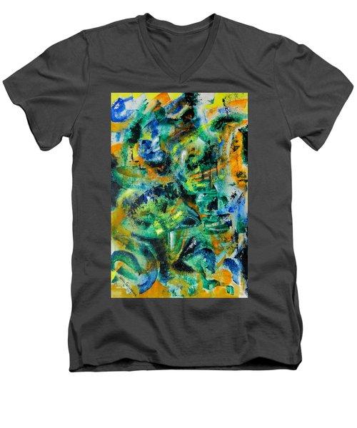 Virtual Men's V-Neck T-Shirt
