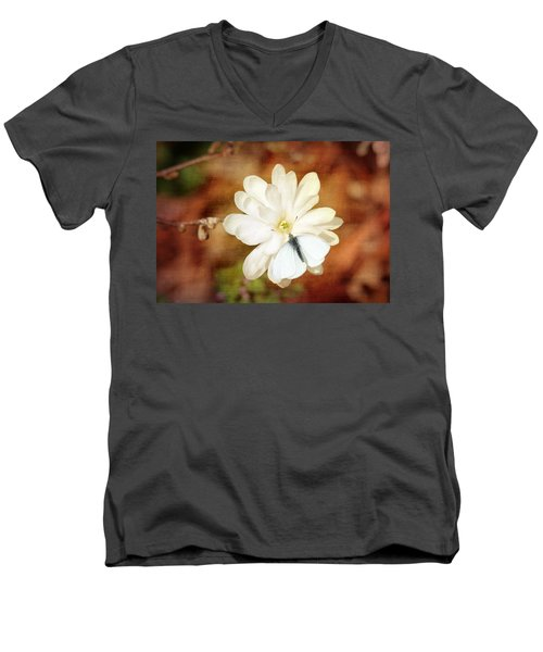 Men's V-Neck T-Shirt featuring the photograph Unity by Trina  Ansel