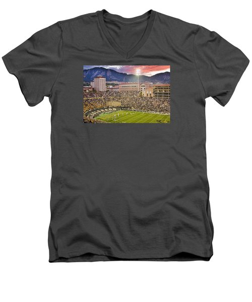 University Of Colorado Boulder Go Buffs Men's V-Neck T-Shirt