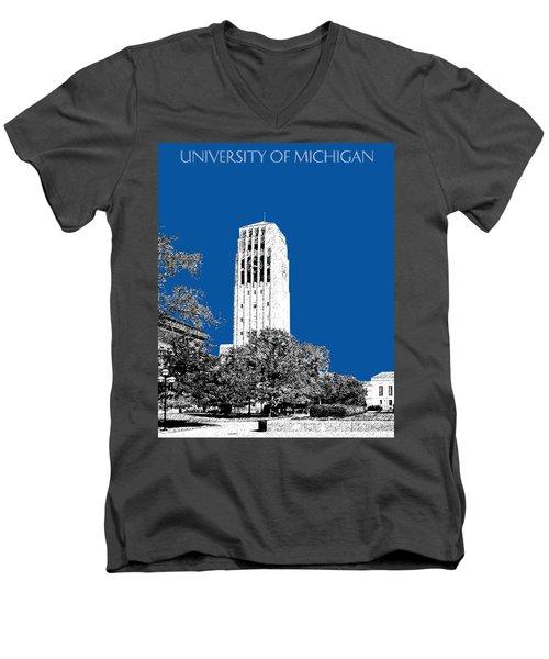 University Of Michigan - Royal Blue Men's V-Neck T-Shirt
