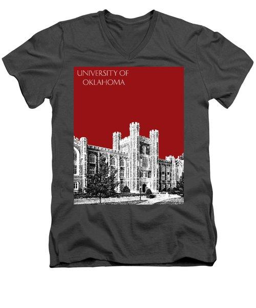 University Of Oklahoma - Dark Red Men's V-Neck T-Shirt