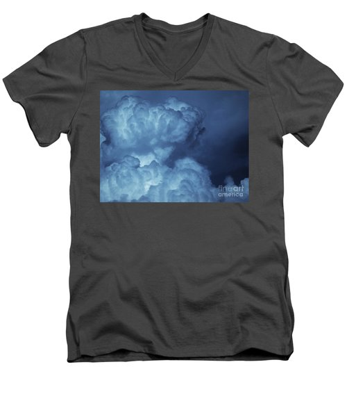 Men's V-Neck T-Shirt featuring the photograph Unleashed by Ellen Cotton
