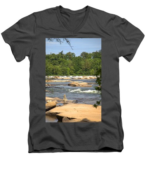 Unnatural Rock Formation Men's V-Neck T-Shirt