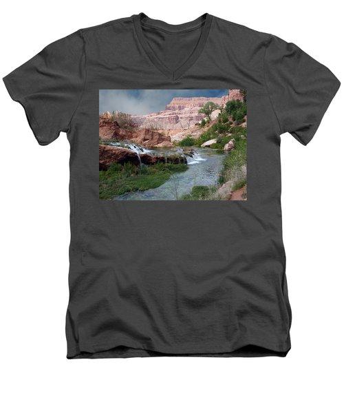 Unspoiled Waterfall Men's V-Neck T-Shirt