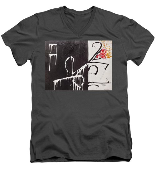 Men's V-Neck T-Shirt featuring the painting Untitled # 1 by Jason Williamson