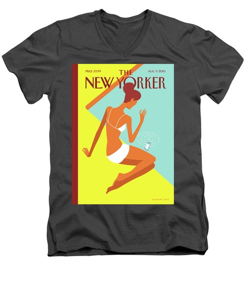 New Yorker August 9th, 2010 Men's V-Neck T-Shirt