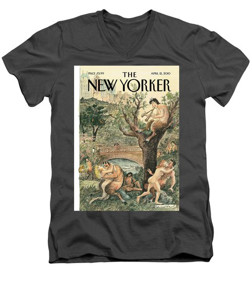 New Yorker April 12th, 2010 Men's V-Neck T-Shirt
