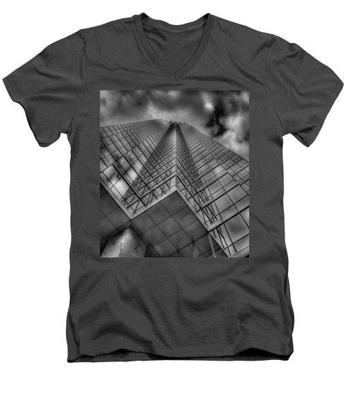 Up 3 Men's V-Neck T-Shirt by Mark Alder
