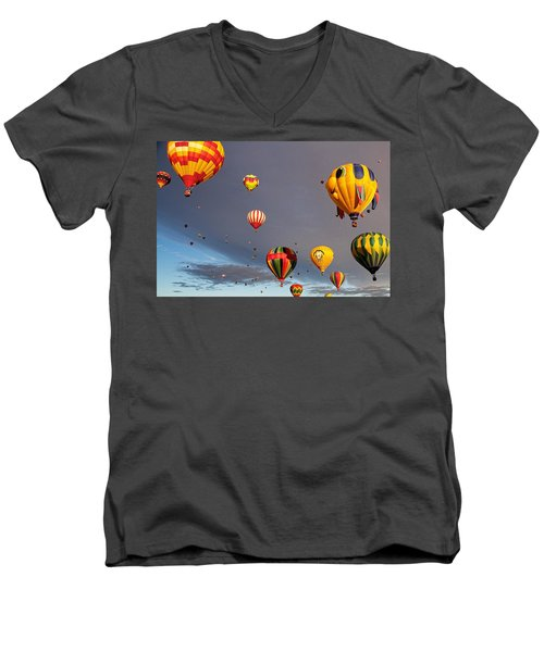 Up And Away Men's V-Neck T-Shirt by Dave Files