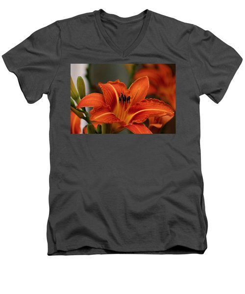 Up Close And Personal Two Men's V-Neck T-Shirt by Jeanette C Landstrom