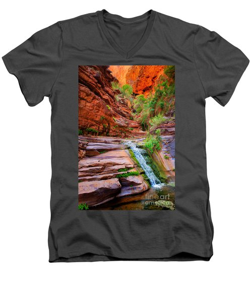 Upper Elves Chasm Cascade Men's V-Neck T-Shirt