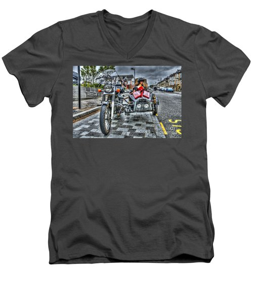 Ural Wolf 750 And Sidecar Men's V-Neck T-Shirt