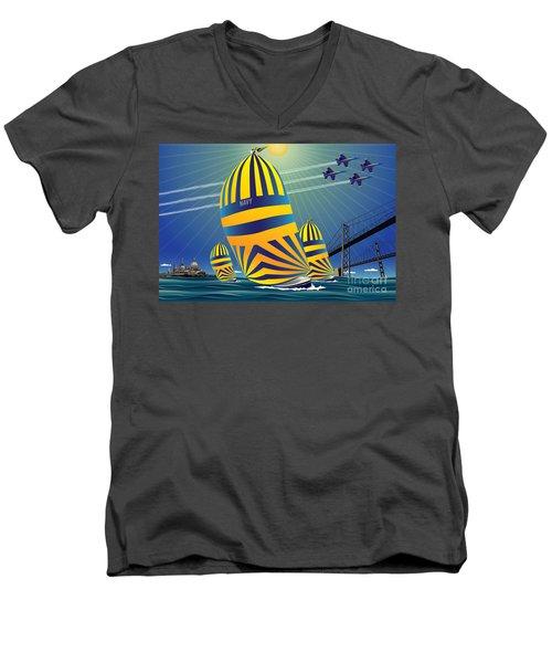 Usna High Noon Sail Men's V-Neck T-Shirt