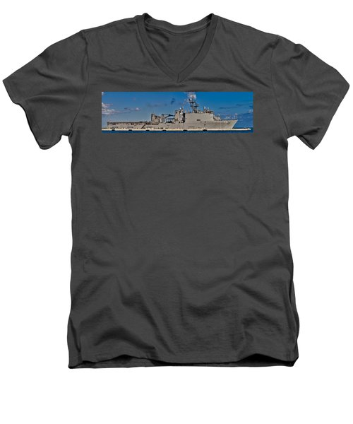 Uss Fort Mchenry Men's V-Neck T-Shirt
