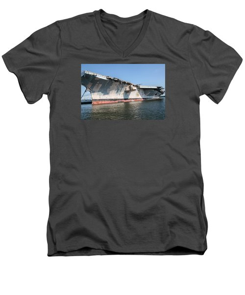 Uss John F. Kennedy Men's V-Neck T-Shirt by Susan  McMenamin