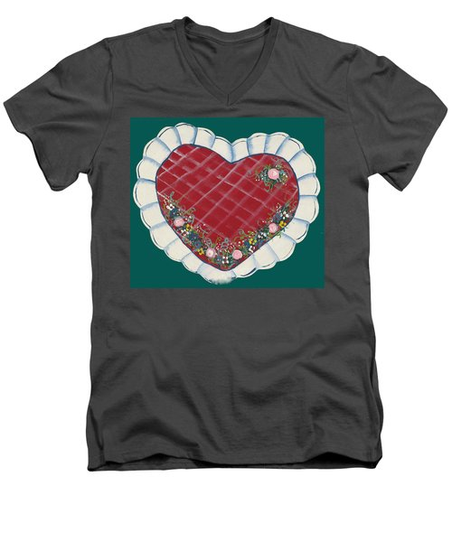 Valentine Heart Men's V-Neck T-Shirt