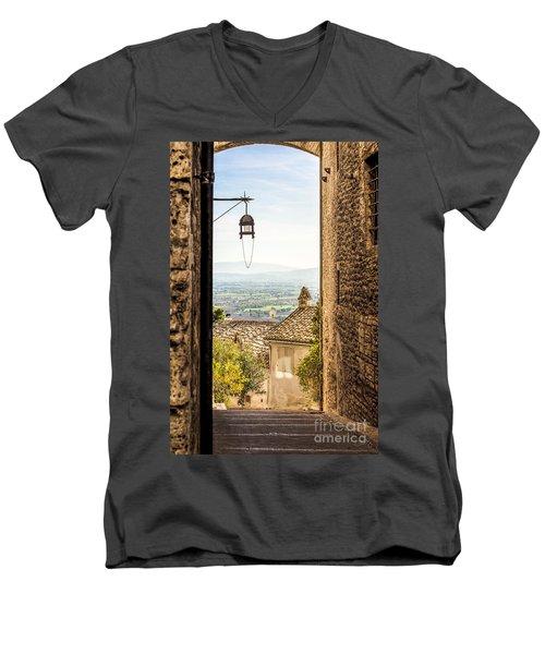 Valley Outside Assisi Men's V-Neck T-Shirt