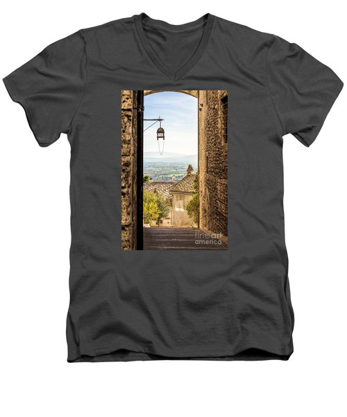 Valley Outside Assisi Men's V-Neck T-Shirt