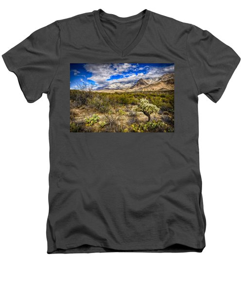 Men's V-Neck T-Shirt featuring the photograph Valley View 27 by Mark Myhaver