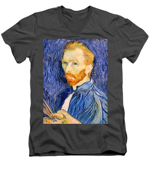 Men's V-Neck T-Shirt featuring the photograph Van Gogh On Van Gogh by Cora Wandel