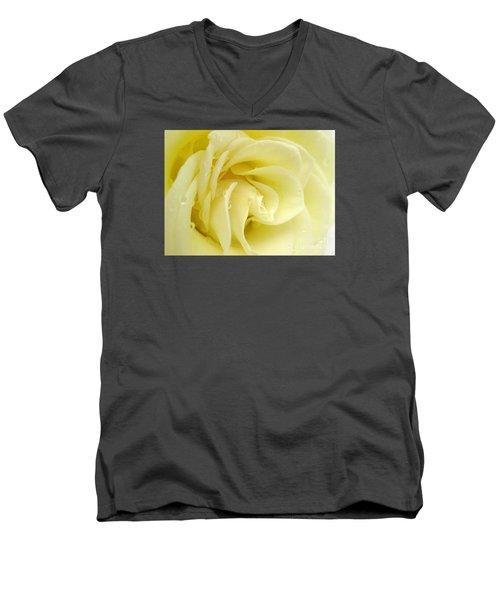 Vanilla Swirl Men's V-Neck T-Shirt by Patti Whitten