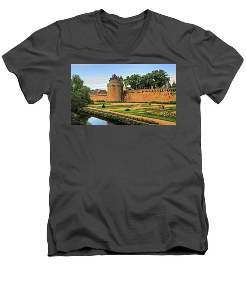 Men's V-Neck T-Shirt featuring the photograph Vannes In Brittany France by Dave Mills